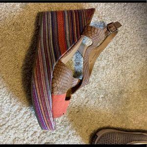 Buckle brand woman's wedge sandal